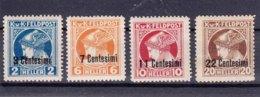 Austria Feldpost Occupation Of Italy Newspaper Stamps 1918 Mi#20-23 Giornali Sassone#1-4 Mint Hinged - Austrian Occupation