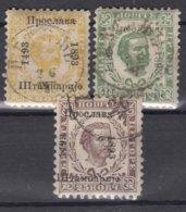 Montenegro 1893 Three Used Pieces - Montenegro