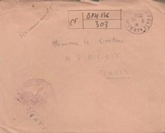 LETTRE FM REC PROVISOIRE BPM 136 - 3e/4B BATAILLON DE R.T.T- POUR DIRECTEUR L A.C.A.T - TUNIS - 8/8/50 - Marcophilie (Lettres)
