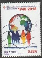 FRANCE 2018 DECLARATION DES DROITS DE L HOMME 1948- 2018 OBLITERE - France