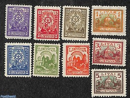 Lithuania 1923 Definitives 9v, (Unused (hinged)), Stamps - Lituania