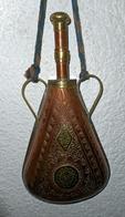 BELLE GOURDE A POUDRE DU MAROC POUR FUSIL MOUKHALA OU DÉCORATION MAGHREB - Decorative Weapons