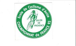 AUTOCOLLANTS STICKERS  SPORTS  ECOLE DE CYCLISME D AVIZE  MARNE CHAMPIONNAT DE FRANCE 93 ****   RARE A SAISIR    **** - Autocollants