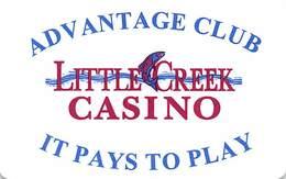 Little Creek Casino - Shelton WA - Thin Plastic Slot Card With Printed Reverse - Casino Cards