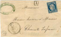 Date Imprécise - DEVANT ( Front) De Lettre De BROUAGE ( Char. Mar.) Cad T24 Affr. N°60 Oblit.GC 654 - Storia Postale