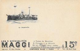 Publicité Maggi (Bouillon, Potages) - Le Cuirassé Duguesclin - Carte Dos Simple Non Circulée - Publicité