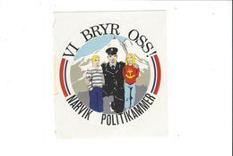AUTOCOLLANTS STICKERS  POLICE NARVIK POLOTIKAMMER  *** RARE   A SAISIR    **** - Stickers