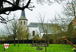 Set 12 Cartes Postales, Bâtiments, églises, Belgium, Churches Of Belgium, Aaigem, Sint-Niklaaskerk - Chiese E Cattedrali