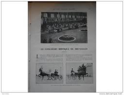 1912 CONCOURS HIPPIQUE BRUXELLES ET SPA / EXPOSITION CANINE PARIS / ESCRIME / BOXE CARPENTIER / CYCLISME BORDEAUX PARIS - Livres, BD, Revues