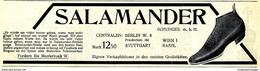 Original-Werbung/ Anzeige 1908 - SALAMANDER - SCHUHE - Ca. 180 X 50 Mm - Pubblicitari