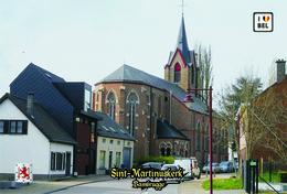 Set 8 Cartes Postales, Bâtiments, églises, Belgium, Churches Of Belgium, Bambrugge, Sint-Martinuskerk - Chiese E Cattedrali
