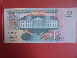 SURINAME 25 GULDEN 1996 PEU CIRCULER/NEUF - Surinam