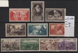 FR 1026 - LOT DE 10 TIMBRES DE FRANCE Neufs* Année 1940 - Nuevos
