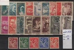FR 1027 - LOT DE 22 TIMBRES DE FRANCE Neufs* Année 1939 - Unused Stamps
