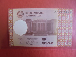 TADJIKISTAN 1 DIRAM 1999 PEU CIRCULER/NEUF - Tadschikistan