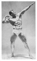 PHOTO HOMME EN MAILLOT DE BAIN CULTURISME CULTURISTE  FORMAT  14.50 X 8.50 CM - Sports