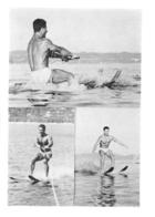 PHOTO HOMME EN MAILLOT DE BAIN CULTURISME CULTURISTE  FORMAT  13 X 9.50 CM - Sports