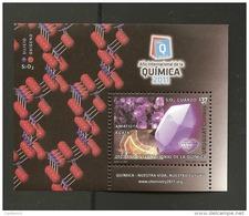 O) 2013 URUGUAY, PRECIOUS STONES, CHEMICALS, INTERNATIONAL YEAR OF CHEMISTRY, SOUVENIR MNH.- - Uruguay