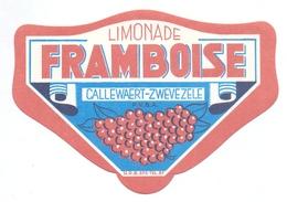 Etiket Etiquette - Limonade - Framboise - Callewaert Zwevezele - Etiquettes