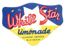 Etiket Etiquette - Limonade - White Star - Callewaert Zwevezele - Etiquettes