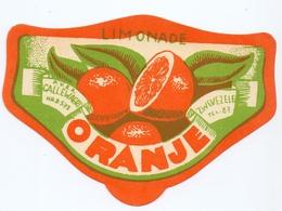 Etiket Etiquette - Limonade - Oranje - Callewaert Zwevezele - Etiquettes