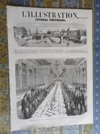 L' ILLUSTRATION 16/11/1861 ALBANIE JABLIAK TURQUIE SOULINA BOUTCHOUQ BESSEGES GARD MINES LALLE ALGERIE CONSTANTINE - Periódicos
