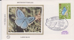 Great Britain 1981 British Butterfly Conservation Society ,Large Blue , Benham Souvenir Cover - Covers & Documents