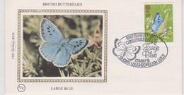Great Britain 1981 British Butterfly Conservation Society ,Large Blue , Benham Souvenir Cover - 1952-.... (Elizabeth II)