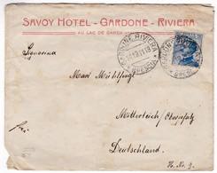 M495 Italy Lettera Letter 1911 Savoy Hotel Gardone Riviera Brescia To Mitterteich Oberpfalz - 1900-44 Victor Emmanuel III