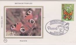 Great Britain 1981 British Butterfly Conservation Society ,Peacock , Benham Souvenir Cover - Covers & Documents