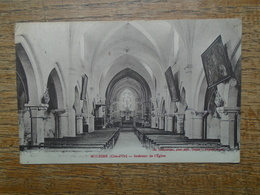 Carte Assez Rare , Molesme , Intérieur De L'église - Francia