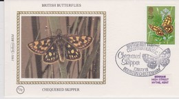 Great Britain 1981 British Butterfly Protection Chequered Skipper , Benham Souvenir Cover - Covers & Documents
