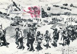 D36963 CARTE MAXIMUM CARD FD 1984 FRANCE - OPERATION OVERLORD LANDING WW II CP ORIGINAL - Guerre Mondiale (Seconde)