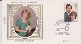 Great Britain 1982 21st Birthday Princess Of Wales , Benham Souvenir Cover - 1952-.... (Elizabeth II)