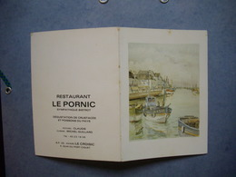 """CARTE DE VISITE  -  Restaurant """" Le Pornic """"   -  44  -  LE CROISIC  -  Loire Atlantique - Cartes De Visite"""