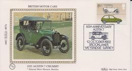 Great Britain 1982 60th Anniversary Austin 7 , Benham Souvenir Cover - 1952-.... (Elizabeth II)