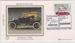 Great Britain 1982 Dagenham Home Of Ford , Benham Souvenir Cover - Covers & Documents
