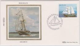 Great Britain 1982 Irish Boat Asgard II , Benham Souvenir Cover - 1952-.... (Elizabeth II)