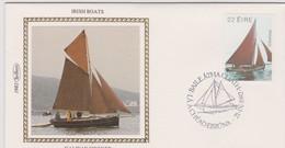 Great Britain 1982 Irish Boat Galway Hooker , Benham Souvenir Cover - 1952-.... (Elizabeth II)