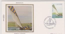 Great Britain 1982 Irish Boat Howth 17-Footer , Benham Souvenir Cover - 1952-.... (Elizabeth II)