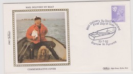 Great Britain 1982 Mail Delivery By Boat , Benham Souvenir Cover - Covers & Documents