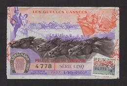 LES GUEULES CASSÉES . 1957 . Prix De 'Arc De Triomphe . - Billets De Loterie