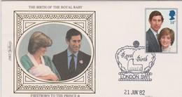 Great Britain 1982 Royal Birth , Benham Souvenir Cover - Covers & Documents
