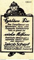 Original-Werbung/ Anzeige 1924 - DAMPFKESSEL REINHALTEN / MOTIV POLIZIST / JAKOB SCHERF - FRIEDRICHSFELD- Ca. 35 X 60 Mm - Werbung