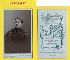 ֎ Photographie ֎ CDV FEMME Habits Bourgeois ֎ CHERI ROUSSEAU ֎ St ETIENNE 42 ֎ - Photographs