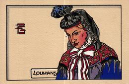 CPA ILLUSTRATEUR - JEUNE FEMME DE LA BRESSE LOUHANNAISE PAR G GEO FOURRIER - Illustrators & Photographers