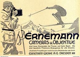 Original-Werbung/ Anzeige 1925 - ERNEMANN CAMERAS - DRESDEN - Ca. 140 X 110 Mm - Werbung