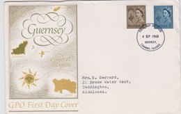 Great Britain -Guernsey 1968 Machins,FDC - FDC