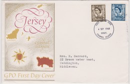 Great Britain -Regional Issues Jersey 1968 Machins,FDC - FDC