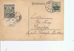 Pologne ( EP De 1915 De Varsovie Vers L'intérieur - Voir Timbre De Poste Locale) - ....-1919 Provisional Government